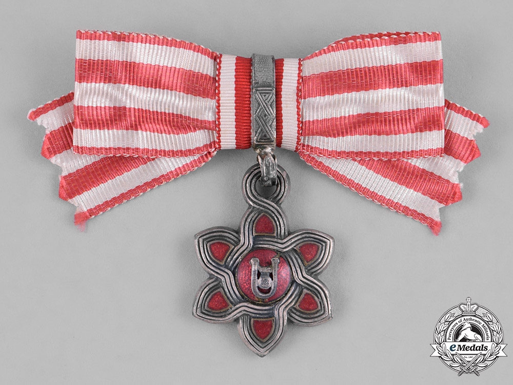 eMedals-Croatia, Independent State. An Order of Merit, III Class, Ladies Moslem Version, c.1942