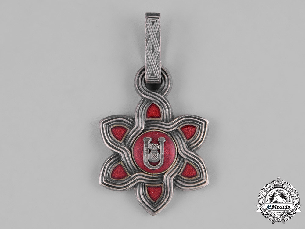 eMedals-Croatia, Independent State. An Order of Merit, I Class Commander, Moslem Version, c.1942