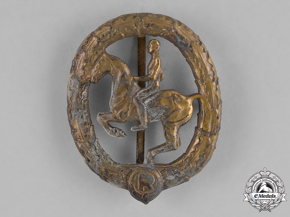 eMedals-Germany, Third Reich. A Bronze Grade Equestrian Badge by L. Christian Lauer
