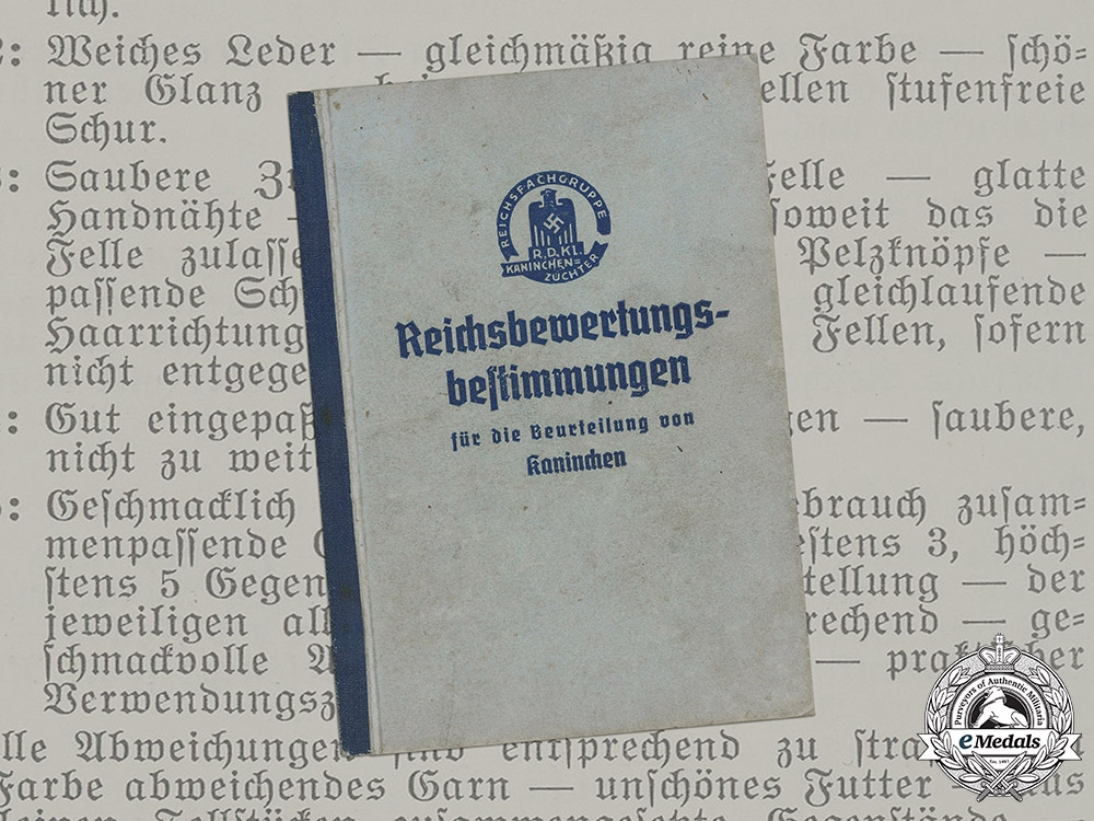 eMedals-Germany, Third Reich. A Book of National Breeding Standards, 1936