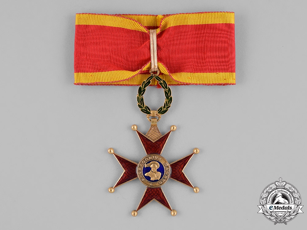 eMedals-Vatican. An Equestrian Order of St.Gregory the Great in Gold, Commander, c.1865