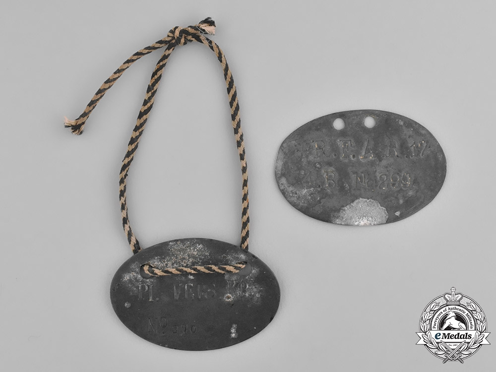 eMedals-Europe. A Pair of First War German POW Identification Discs