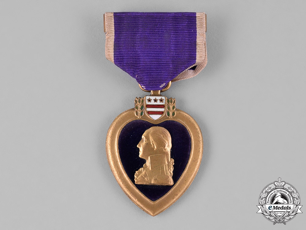 eMedals-United States. A Purple Heart, 101st Infantry, 26th Division, WIA Meuse-Argonne Offensive