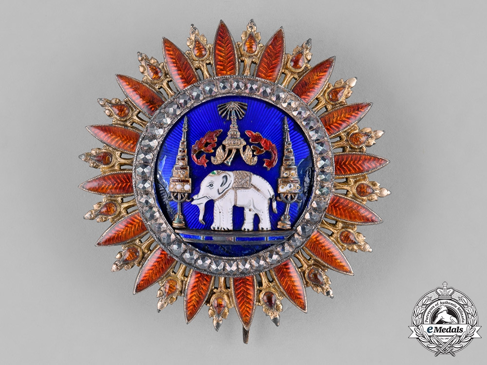 eMedals-Thailand, Kingdom of Siam. A Most Exalted Order of the White Elephant, 1st Class Grand Cross Star, c.1880