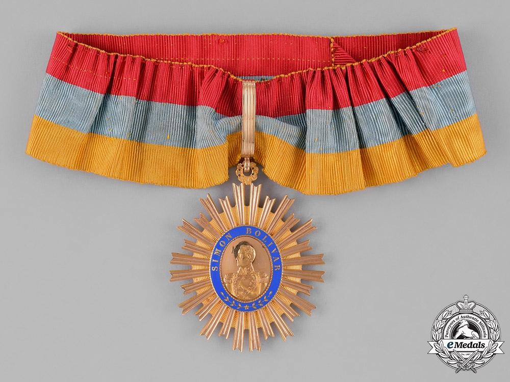 eMedals-Venezuela, Republic. An Order of the Liberator in Gold, I Class Grand Officer, c.1920