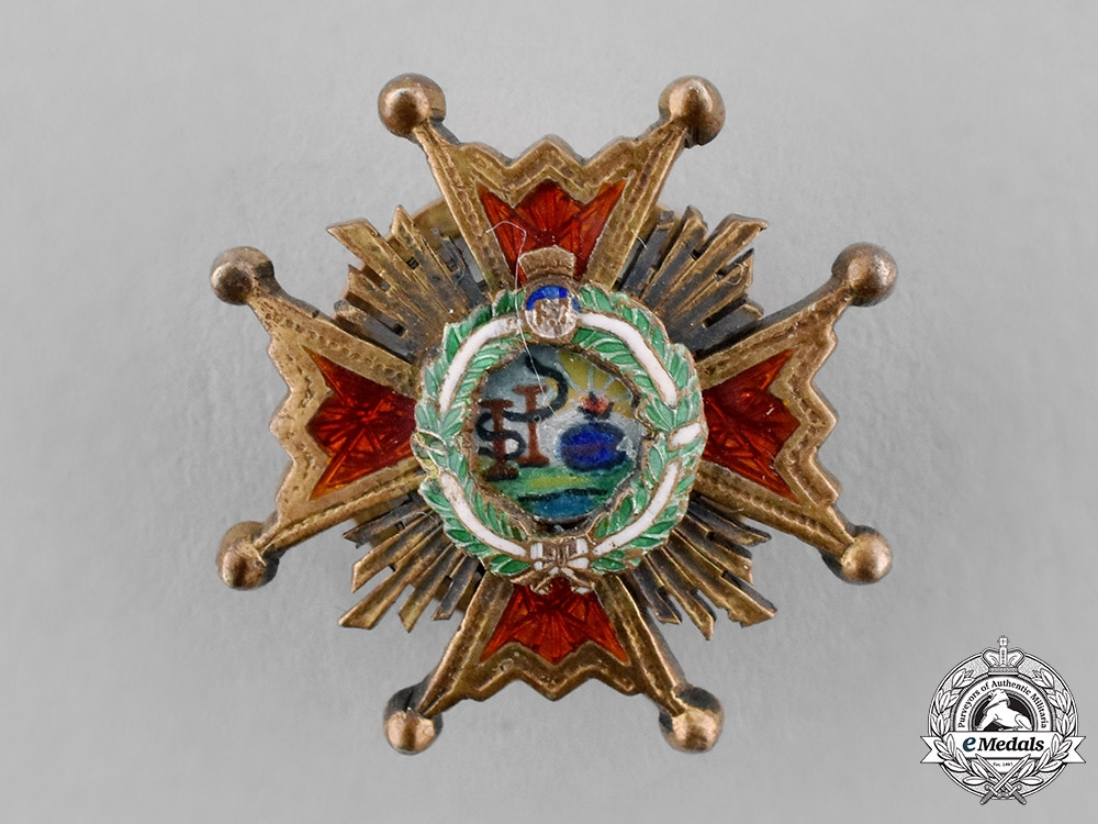 eMedals-Spain, Franco's Period. A Miniature Order of Isabella the Catholic, Grand Cross Star, c.1950
