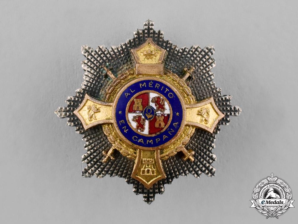 eMedals-Spain, Franco's period. A Miniature War Cross, I Class Cross, c.1950