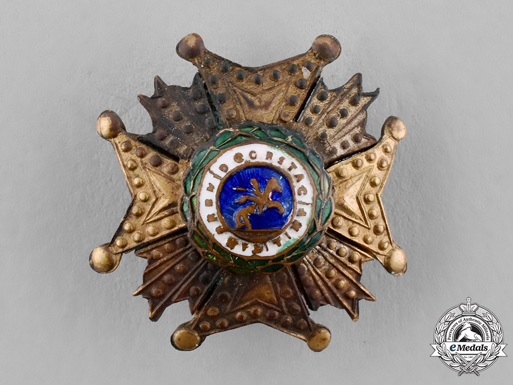 eMedals-Spain, Kingdom. A Miniature Order of St. Hermenegildo, Commander by Number's Star, c.1870