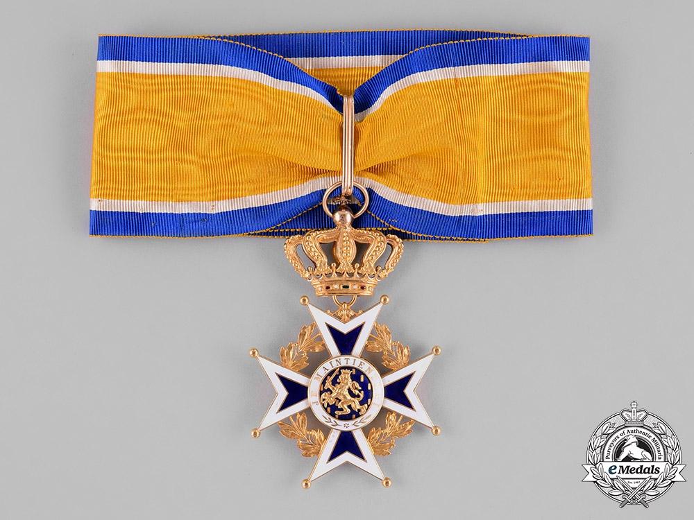 eMedals-Netherlands, Kingdom. An Order of Orange-Nassau in Gold, Grand Officer Cross, c.1900