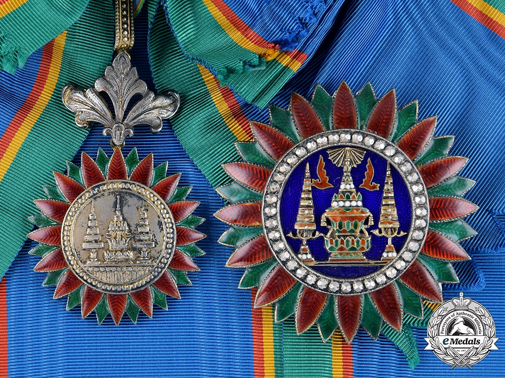 eMedals-Thailand, Kingdom. A Most Noble Order of the Crown, I Class Grand Cross, by J. W. Benson, c.1935