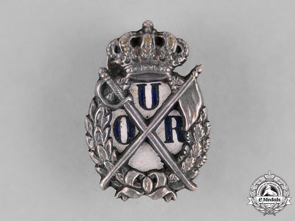 eMedals-Romania, Kingdom. A Badge of the Reserve Officers Union