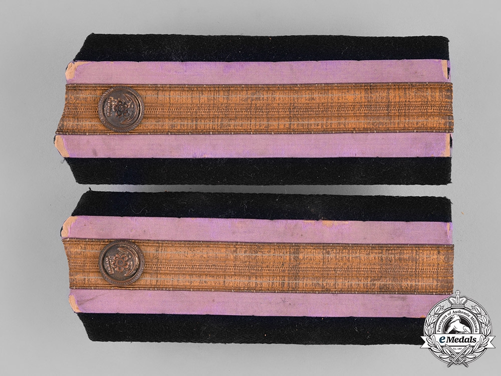 eMedals-Japan, Empire. A Pair of Imperial Naval Paymaster Shoulder Boards