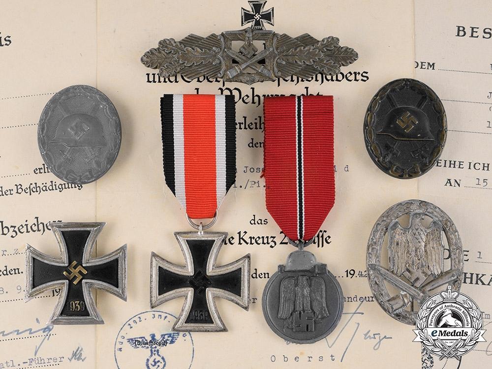 eMedals-Germany, Heer. The Awards And Documents Of Pionier NCO Josef Schmid (EK1, CCC)
