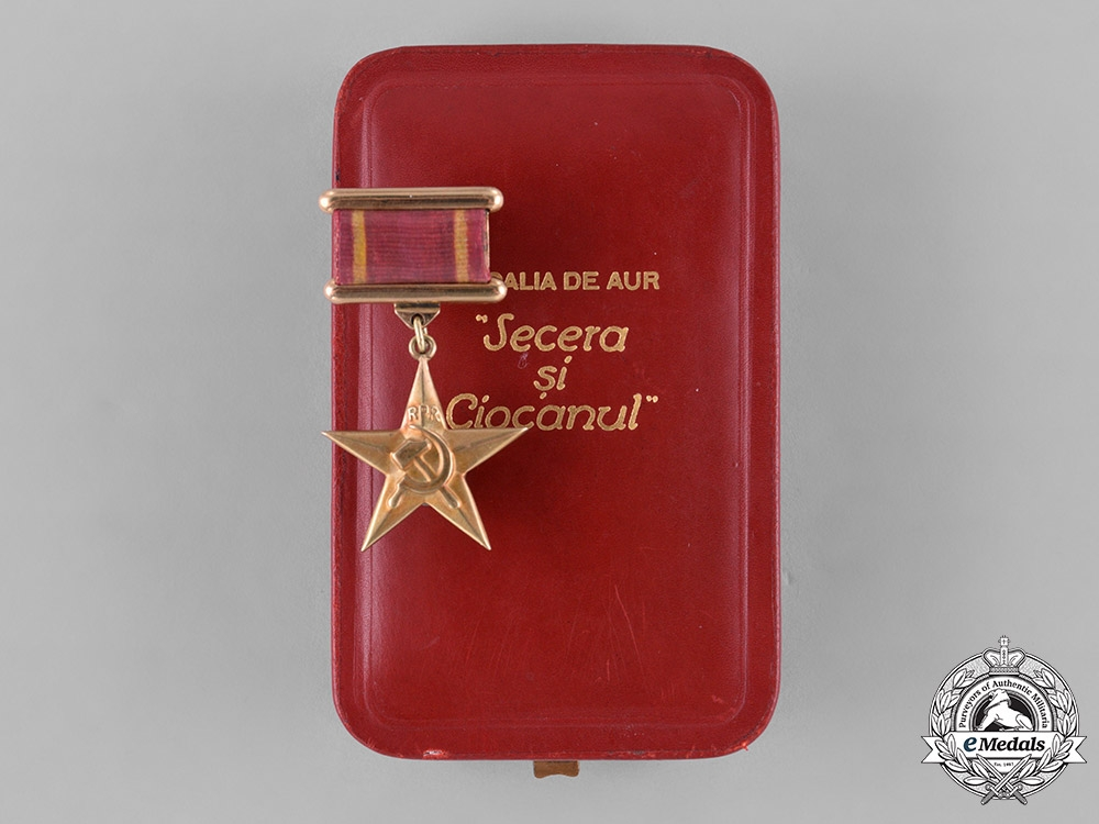 eMedals-Romania, Peoples Republic. Hero of Socialist Labor, in Gold, Numbered #1, Gheorghe Gheorghiu-Dej