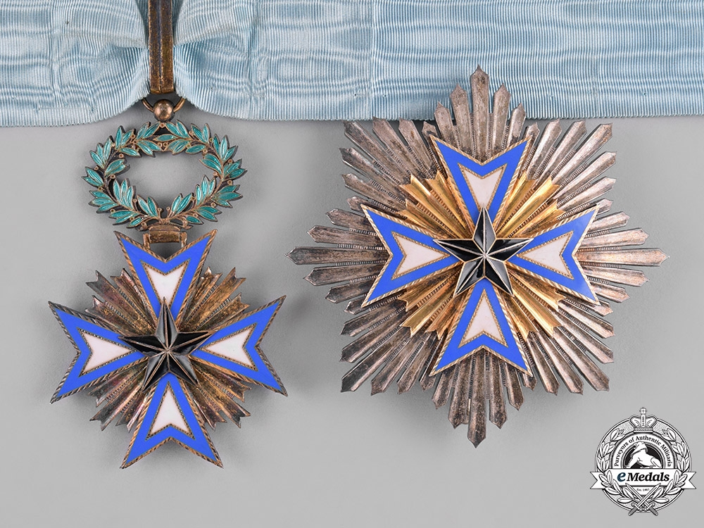 eMedals-France, Colonial. An Order of the Black Star of Benin, Grand Officer, by Arthus Bertrand, c.1930