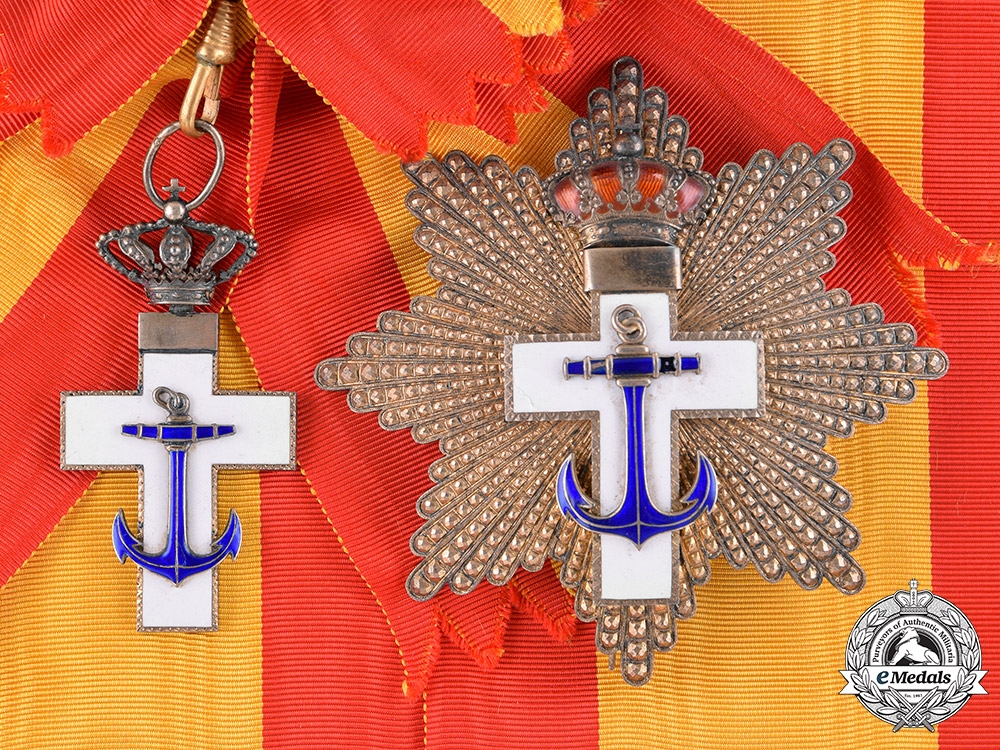 eMedals-Spain, Kingdom. An Order of Naval Merit, White Division, Grand Cross, c.1920
