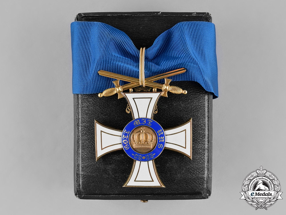 eMedals-Prussia, State. A Crown Order in Gold, II Class Commander with Swords, c.1914