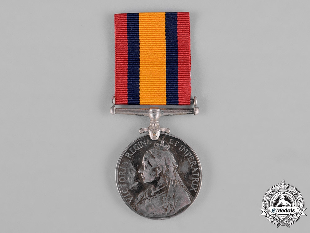 eMedals-United Kingdom. A Queen's South Africa Medal 1899-1902