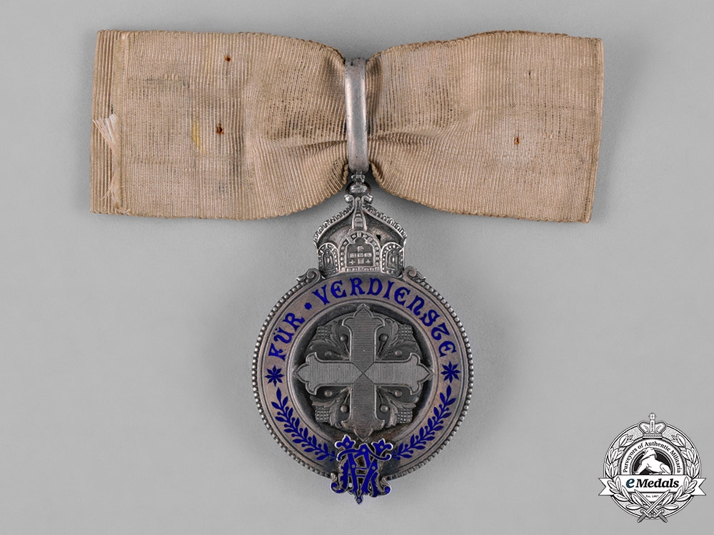 eMedals-Prussia, Kingdom. A Rare Variant of a Prussian Ladies Merit Cross, Silver Grade, c.1900