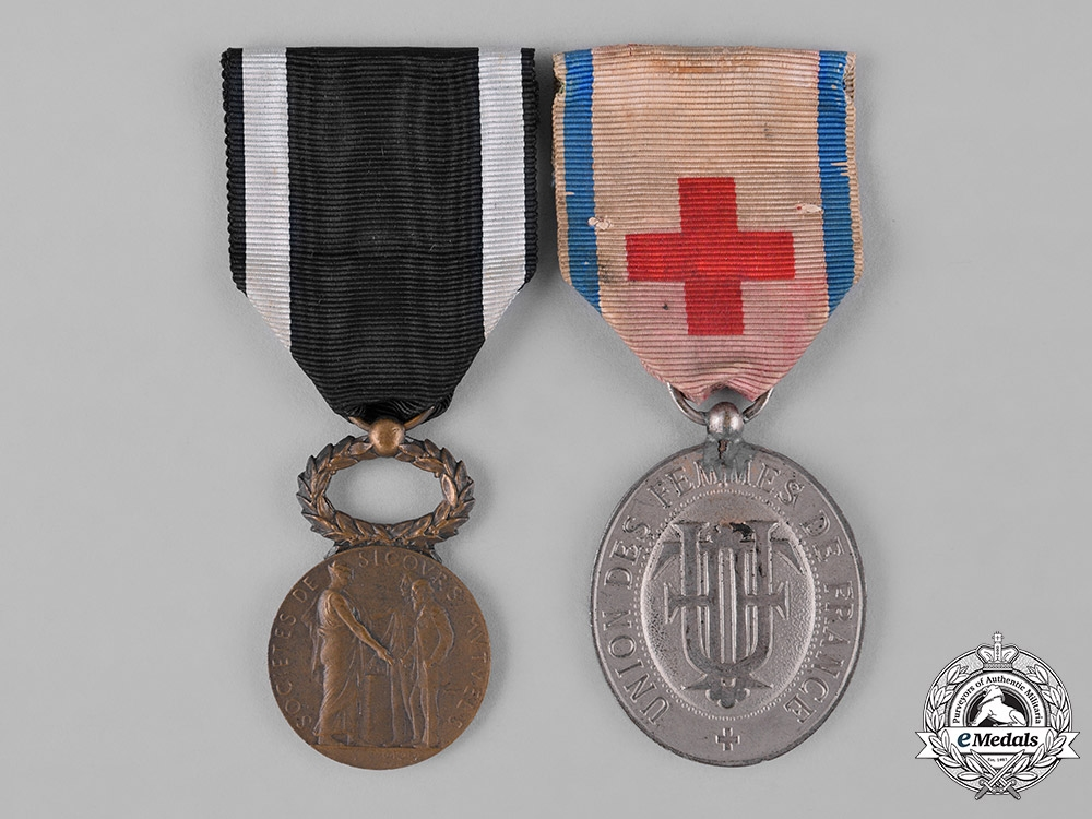 eMedals-France, III Republic. Two Early 20th Century Medals & Awards