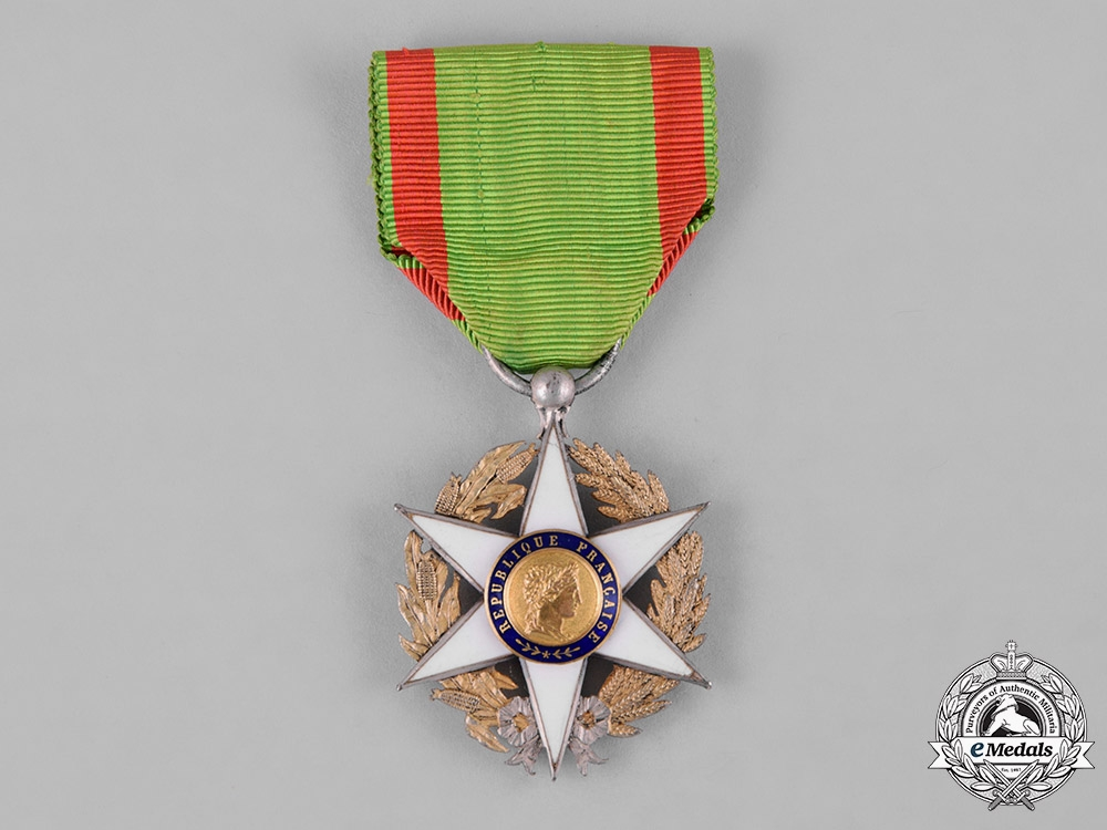 eMedals-France, II Republic. An Order of Agricultural Merit, III Class Knight, c.1914
