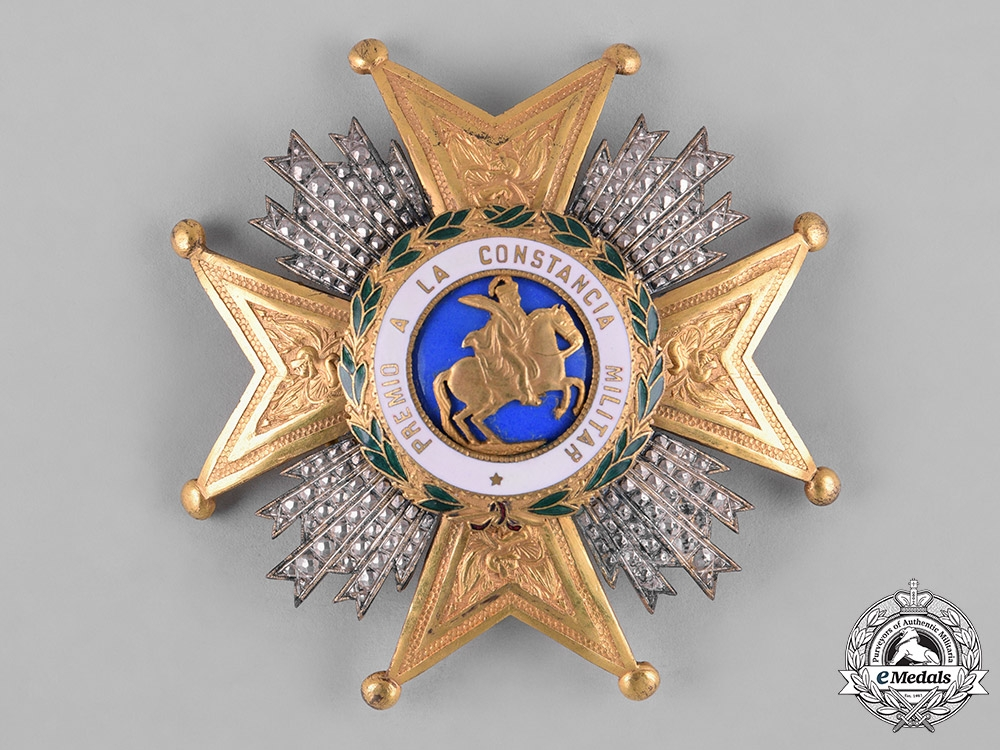 eMedals-Spain, Franco Era. A Royal & Military Order of St. Hermenegild, Commander's Star, c.1950