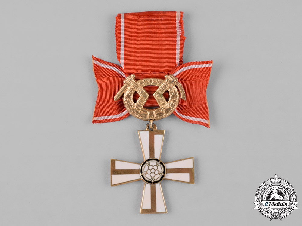 eMedals-Finland, Republic. An Order of the Cross of Liberty, II Class, c.1942
