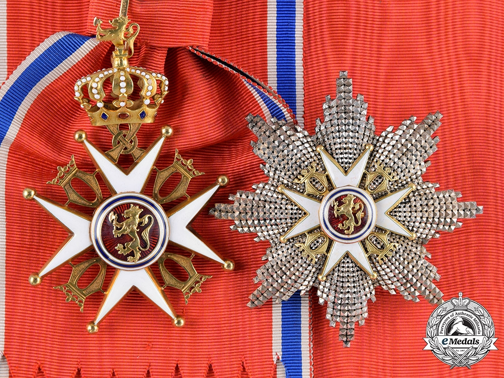 eMedals-Norway, Kingdom. An Order of St. Olav in Gold, Grand Cross, by Tostrup & Kristiania, c.1910