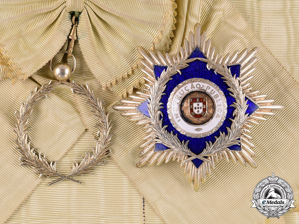 eMedals-Portugal, Kingdom. An Order of Instruction & Benevolence, Grand Cross, by Frederico Costa, c.1930
