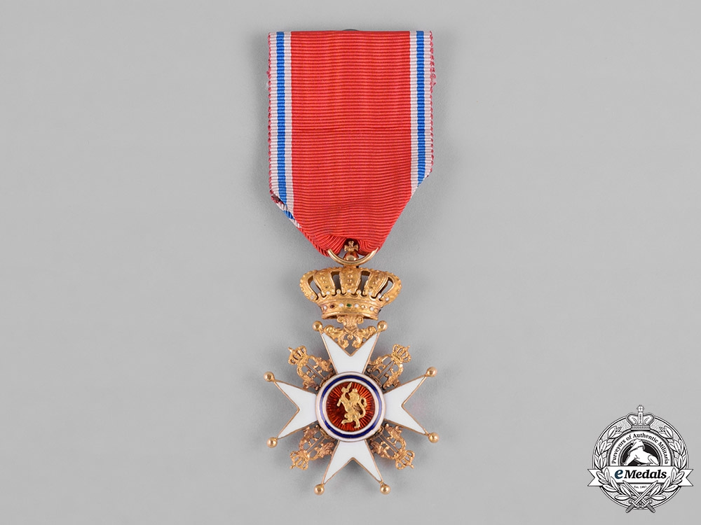 eMedals-Norway, Kingdom. A Royal Order of Saint Olaf in Gold, I Class Knight, c.1890