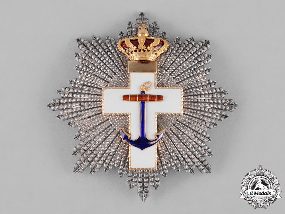 eMedals-Spain, Kingdom. An Order of Naval Merit, White Division, Grand Cross Star, c.1910