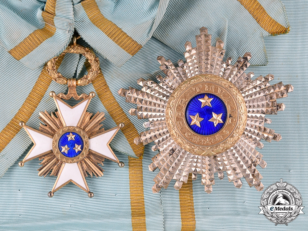 eMedals-Latvia, I Republic. An Order of the Three Stars, Grand Cross, by W. F. Müller, c.1930