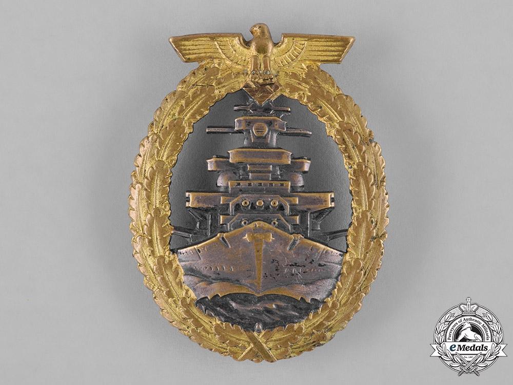 eMedals-Germany, Kriegsmarine. A High Seas Fleet Badge, by Schwerin