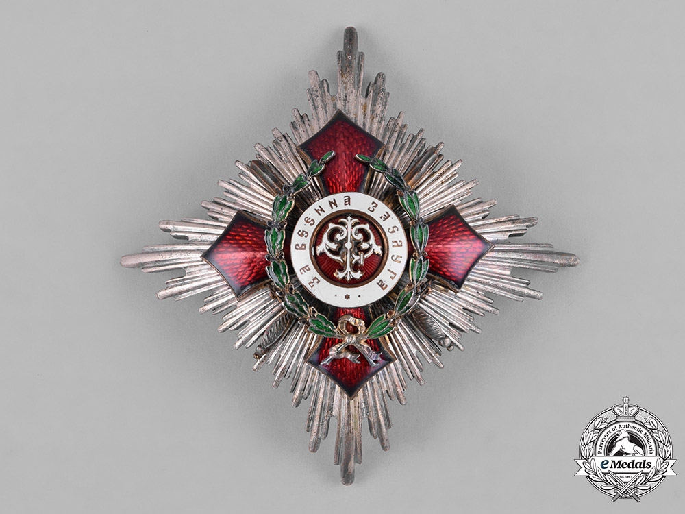 eMedals-Bulgaria, Kingdom. An Order of Military Merit, II Class Star with Swords & War Decoration, c.1915