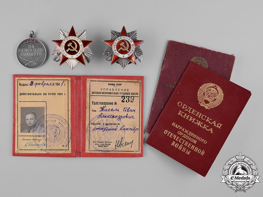 eMedals-Russia, Soviet Union. An Order of the Patriotic War Award Group, c.1945