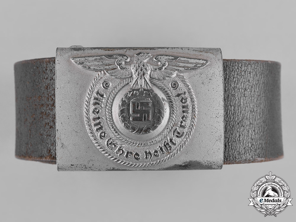 eMedals-Germany, SS. A Waffen-SS EM/NCO's Belt and Buckle