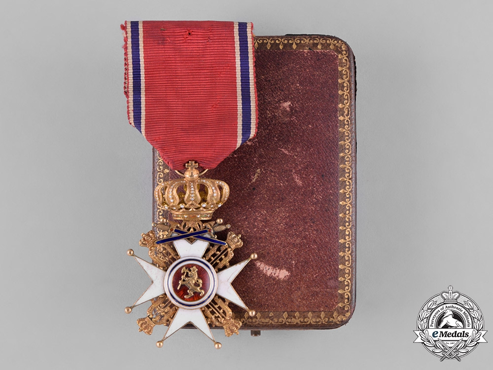 eMedals-Norway, Kingdom. An Order of St. Olav in Gold, I Class Knight with Swords, by J.Tostnup, c.1880