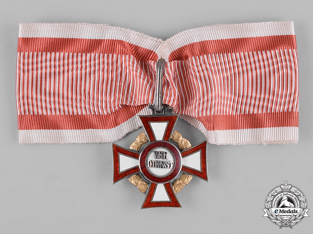 eMedals-Austria, Empire. A Military Merit Cross, II Class Cross with III Class War Decoration, by Rudolph Souval, c.1915