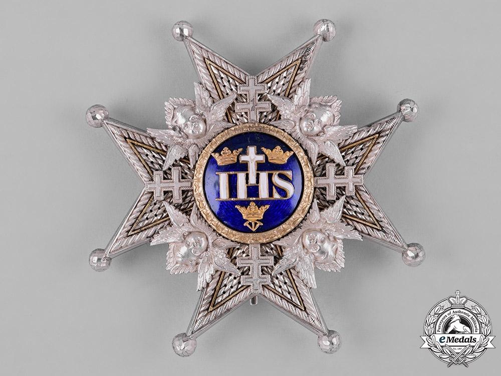 eMedals-Sweden, Kingdom. A Royal Order of the Seraphim, Grand Cross Star, by C. F. Carlman, c.1950