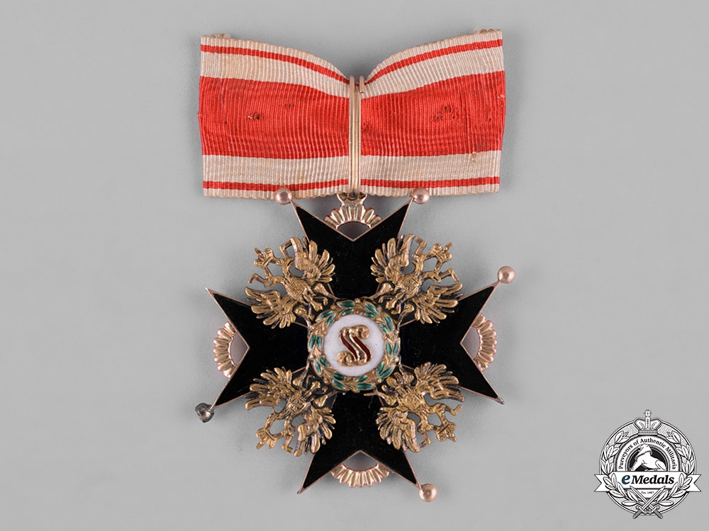 eMedals-Russia, Imperial. An Order of Saint Stanislaus in Gold, II Class Commander, c.1860