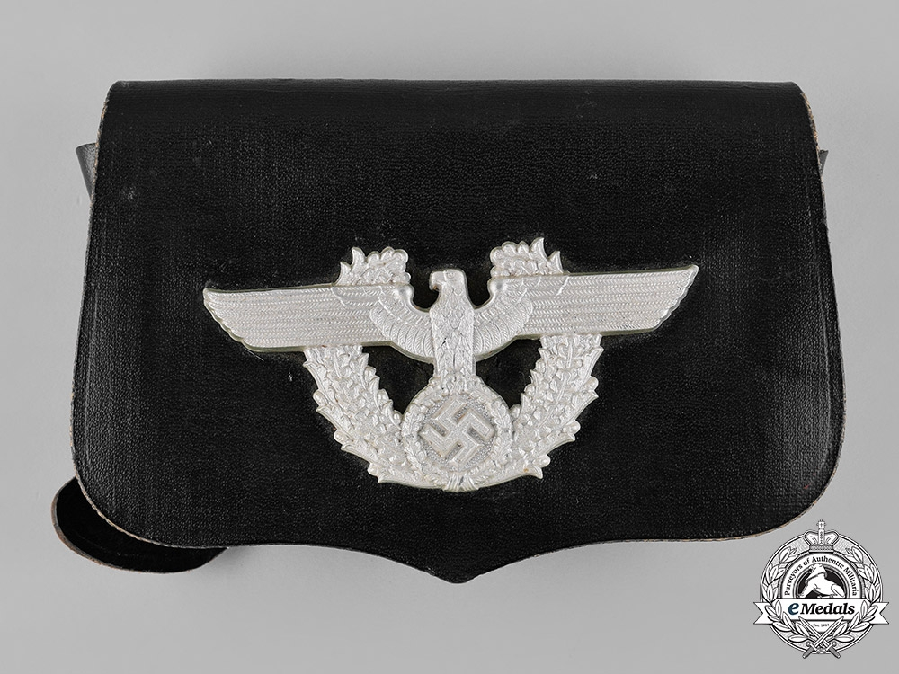 eMedals-Germany, Ordnungspolizei. A German Police Pouch, by A. Fischer, c.1938