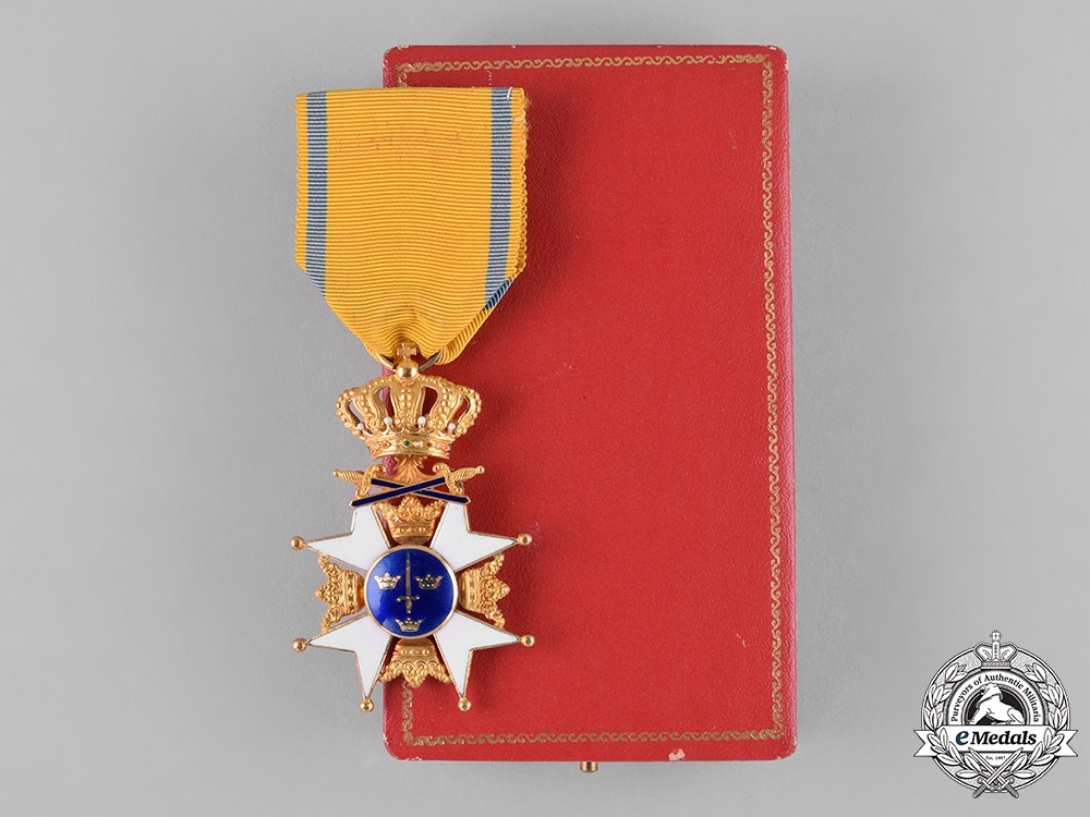 eMedals-Sweden, Kingdom. An Order of the Sword in Gold, I Class Knight, c.1963