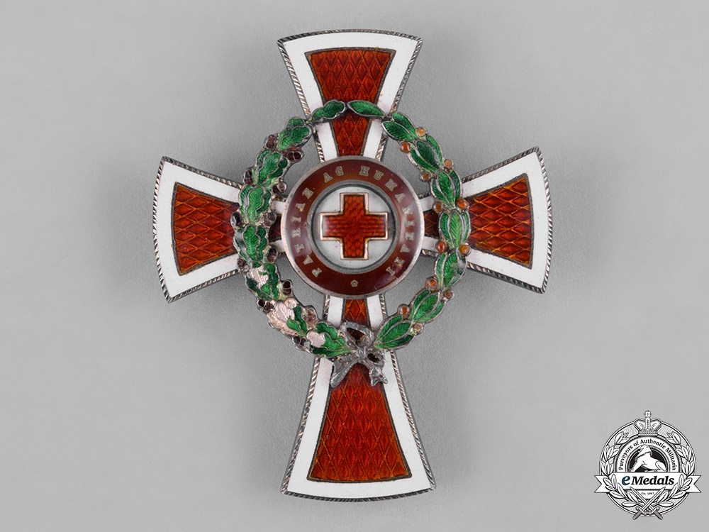 eMedals-Austria, Imperial. An Honour Decoration of the Red Cross, Officer's Cross with War Decoration, by  G.A. Scheid, c.1918