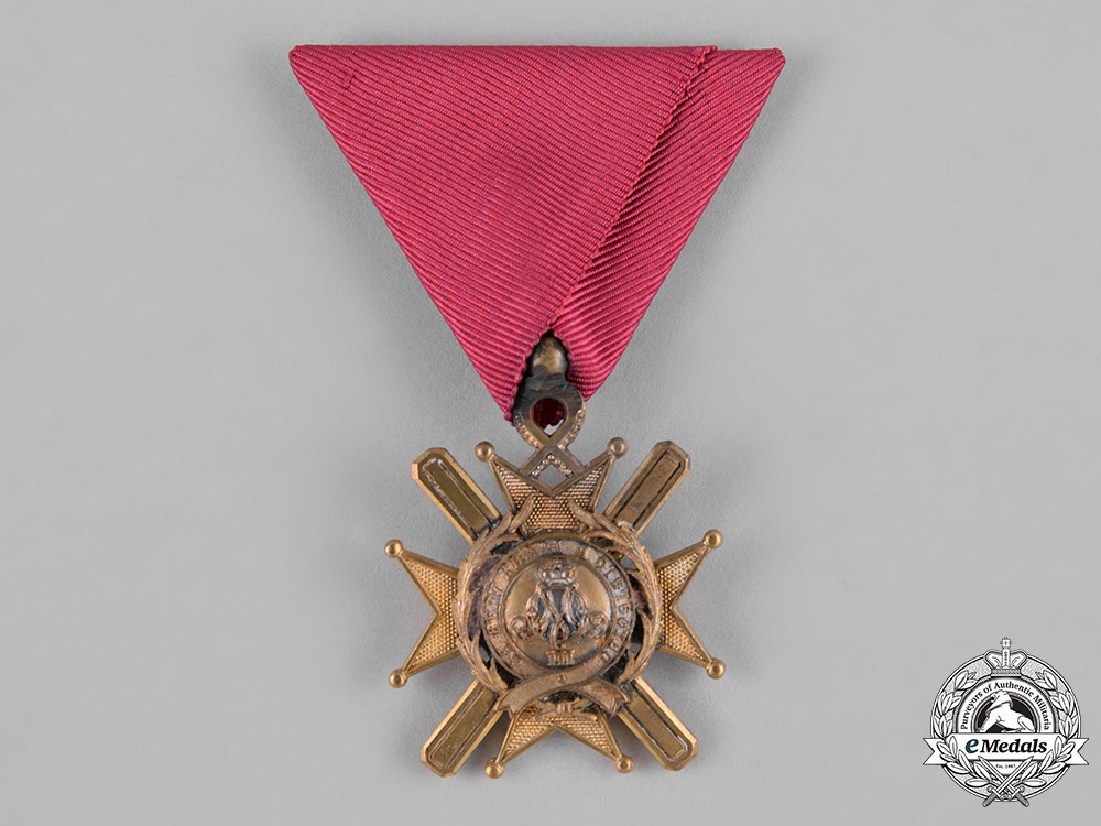 eMedals-Serbia, Kingdom. An Order of the Cross of Takovo, V Class, Knight, c.1900