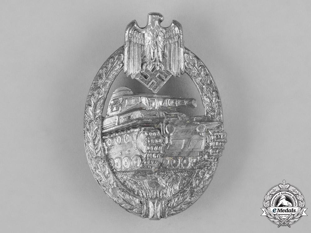 eMedals-Germany, Heer. A Panzer Assault Badge, Silver Grade, by Hermann Aurich