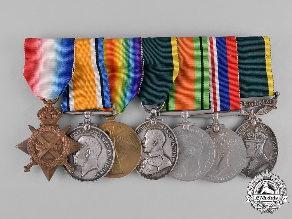 eMedals-United Kingdom. A Territorial Force & Efficiency Medal Group, Royal Scots
