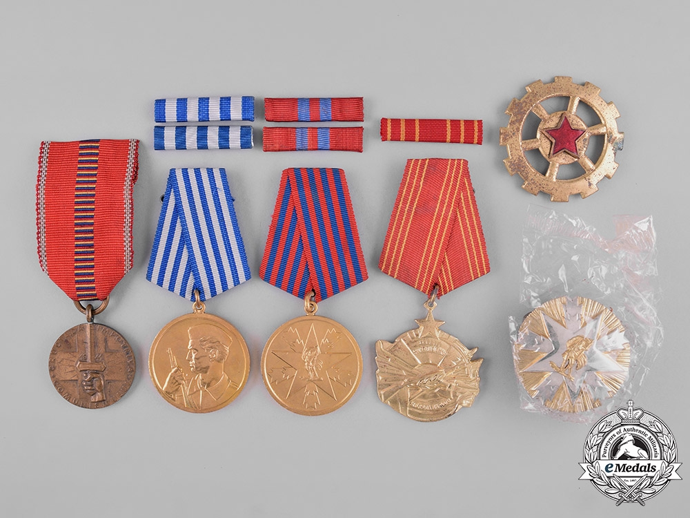 eMedals-Romania, Kingdom; Yugoslavia, Socialist Federal Republic. Lot of Six Awards