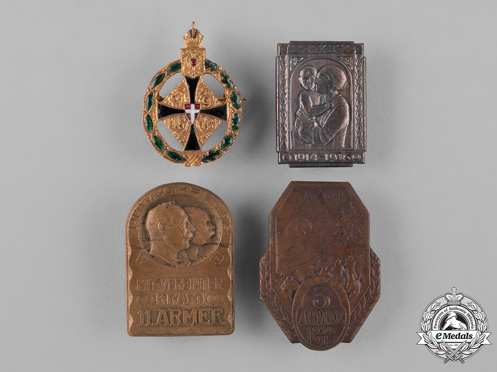 eMedals-Austria, Imperial. Four Imperial First War Period Badges