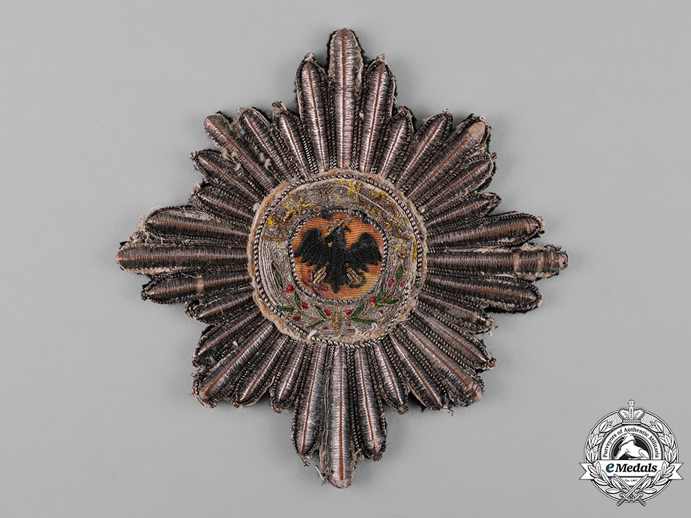 eMedals-Prussia, Kingdom. A High Order of the Black Eagle, Embroidered Mantle Star, c.1910