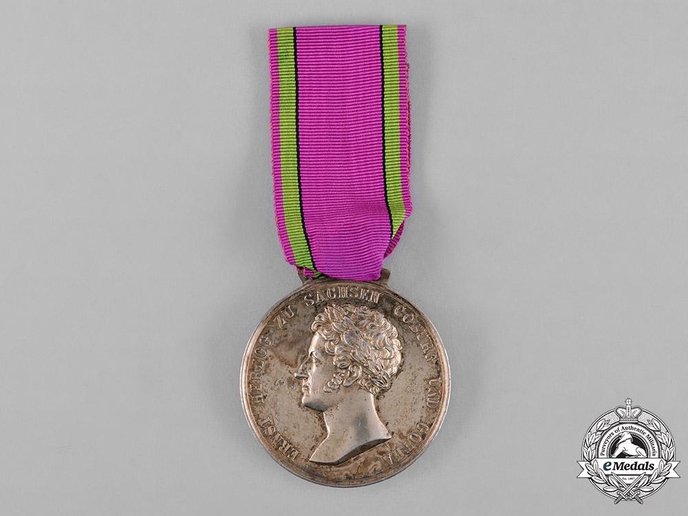eMedals-Saxe-Coburg and Gotha, Kingdom. A Saxe-Ernestine House Order Merit Medal, Gold Medal, c.1870